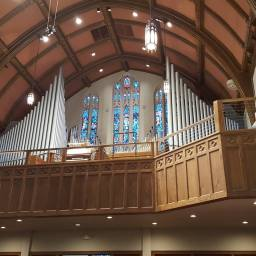 The beautiful First Lutheran Church of Sioux Falls where we saw Justin's cousin get married in Sioux Falls.