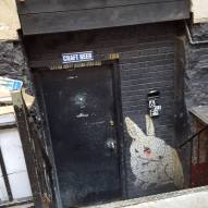 Creepy bar entrance is creepy.