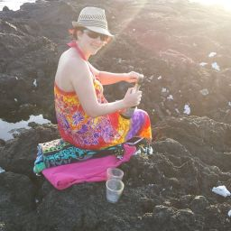 Popping the cork on a secluded beach in Hawaii