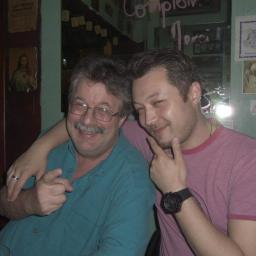 My dad, Winn, and our friend Michael, in Paris.