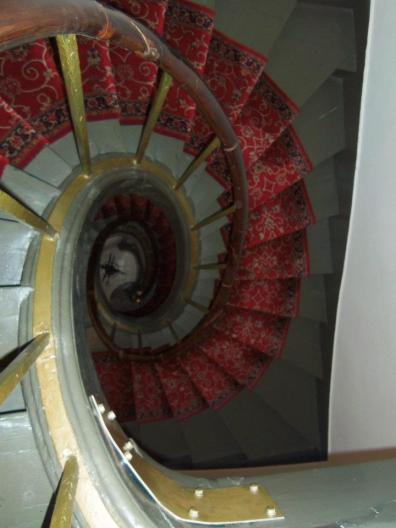 The staircase of doom in our 18th century Parisian apartment in the 11th