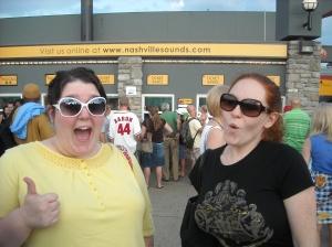Charlotte and Christina, visiting me in Nashville, 2009.