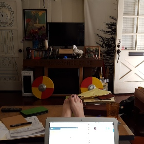 Cari's apartment, aka my office for the first part of the trip