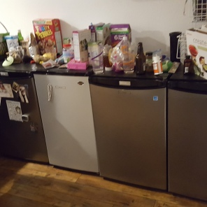 Individual fridges for each of the people who live at the Church