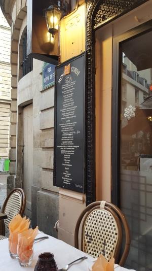 A typical menu