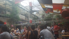 "Inside Szimpla Kert (though ""inside"" might be relative...)"