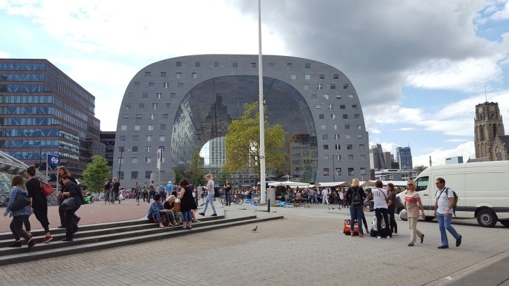 The amazing Market Hall. https://en.wikipedia.org/wiki/Market_Hall_(Rotterdam)