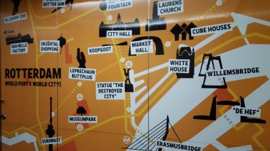 The map inside the elevator of the Euromast