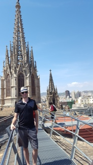 On top of the Barcelona cathedral