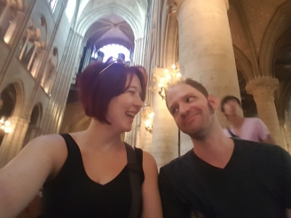Laughing in Notre Dame