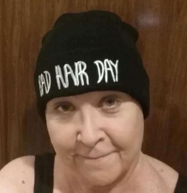 My mom, post-chemo.