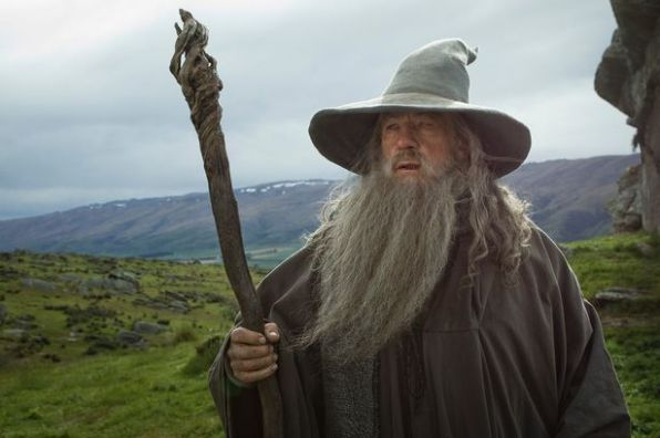 Dumbledore played by Ian McKellan as Gandalph