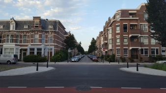 A typical picturesque street in den Haag