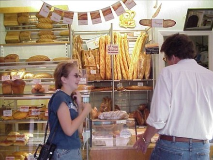 1999, my dad orders a croissant for me.