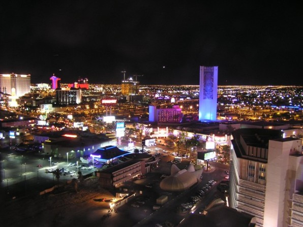 View from the roof (hint: don't go on the roof of a Vegas hotel... just fyi)