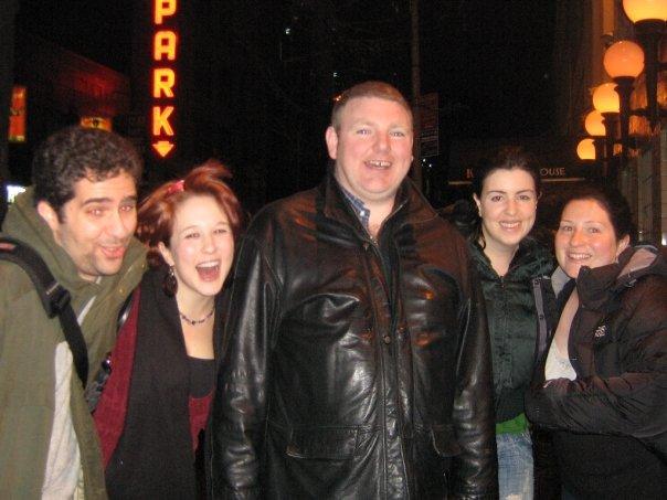 M, me, E's then-boyfriend-now-husband, E's friend, and E (circa 2008)