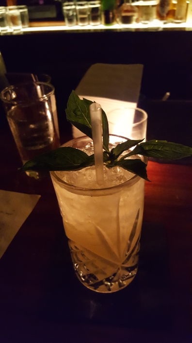 One of my drinks at Angel's Share; delicious and well-balanced