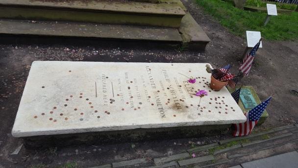 The grave of Eliza Hamilton