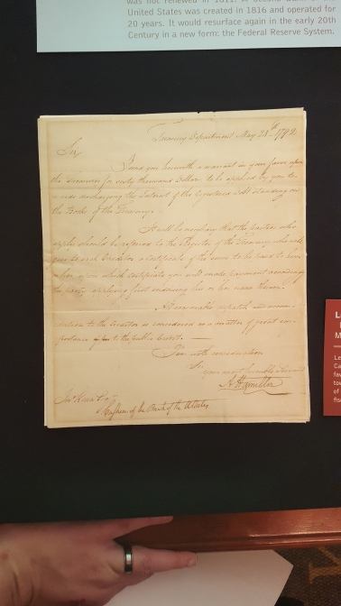 An original letter from Hamilton