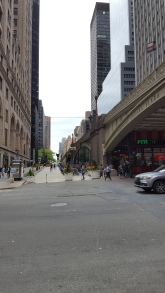 I just loved this view of the bridge, the street, the buildings in the background.