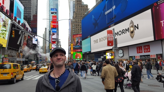 Husband's first (and maybe last) time to Times Square