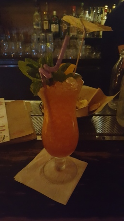 A tiki drink at Boilermaker
