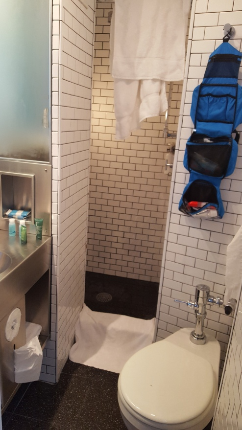 Our tiiiiiiiiny bathroom. But hey, it did the trick.
