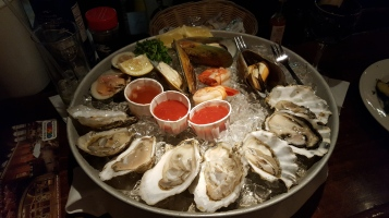 The shellfish platter Justin had (He said this was great; my food was mediocre and the drinks were not good)