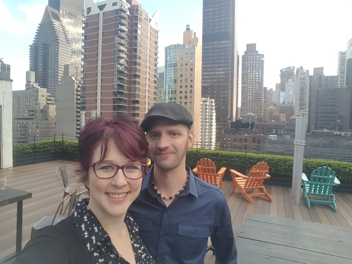Hanging with the husband on the Pod 51 rooftop