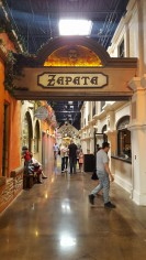 "One of the ""avenues"" at Plaza Mariachi"