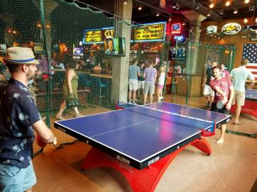 Ping pong tables at Clyde's