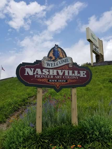 We drove right past another Nashville, so of course we had to take picture :)