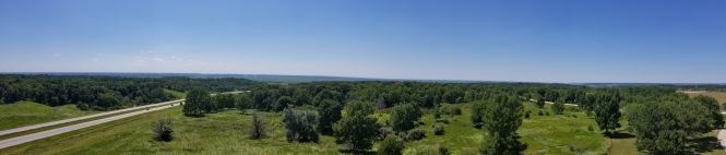 We made a quick pitstop in Rockford, IA where they had a tower for photo opportunities! Absolutely beautiful view of surrounding farmland.