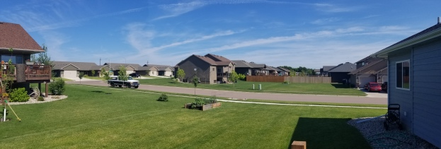 We stayed with Justin's younger brother and his family in one of the many new neighborhoods of Sioux Falls