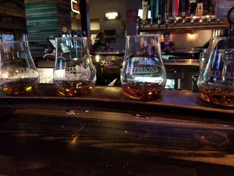 Barrel House has crazy cheap flights of nice whiskeys! (Also the pizzzzzzzza.)
