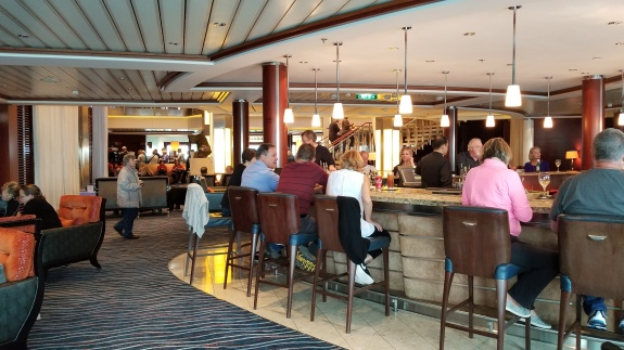 One of the many bars on ship