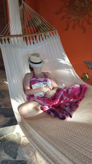 Reading and napping in Mexico