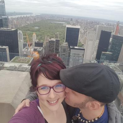 Husband loves wife in NYC, 2017.