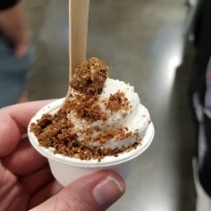 Vegan ice cream with paleo collagen crumble