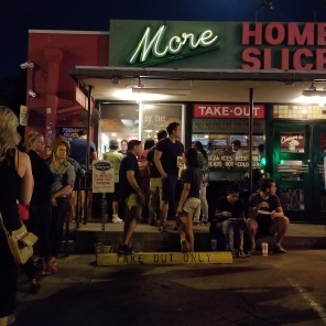 Justin had to get a late night slide of pizza at Home Slice