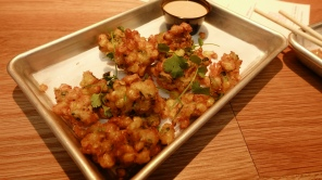 Corn fritters at Loro (SO GOOD)