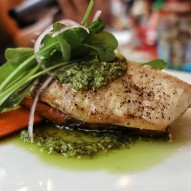 The most amazing piece of fish with killer pesto at Mongers