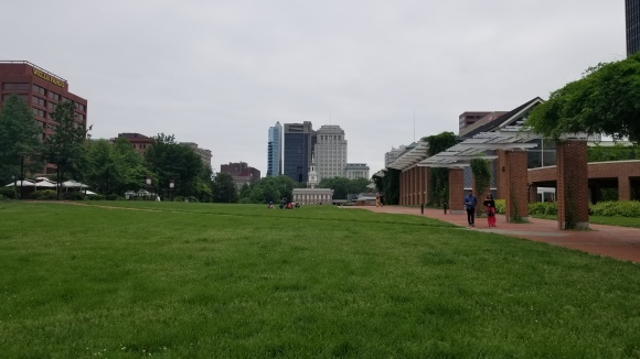 Independence Hall from a distance