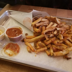The fries at Saus in Boston