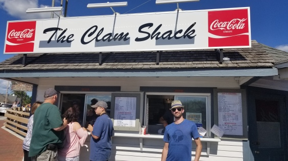 Eating at the Clam Shack as per many friends' recommendations