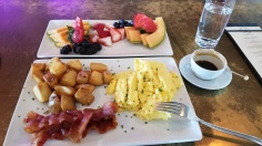 The brunch at TIQA in Portland