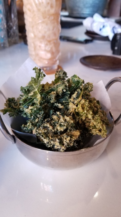 Incredible kale chips at Blythe and Burrow