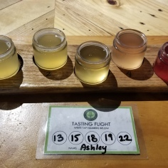 A flight of Jun and Kombucha at UFF
