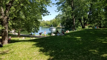 The beautiful Parc Lafontaine