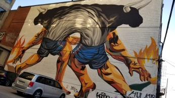 Lots of street art in this town